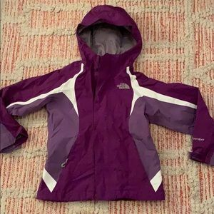 Girls kids THE NORTH FACE HyVent Purple Jacket XS